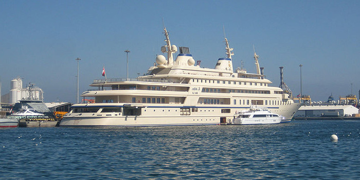 Al Said - the world's fourth largest yacht: 508.5 ft / 155 m.
