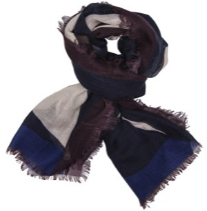 Alain Figaret Blue women's scarf in modal with patterns: €159.