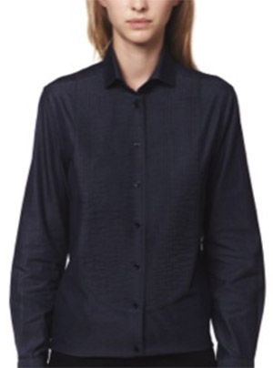 Alain Figaret Straight cut women's shirt in dark denim with shirt-front: €159.