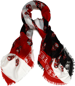 Alexander McQueen Abstract Skull Print Men's Scarf: US$520.