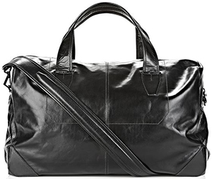 Alexander Wang wallie duffle in waxy black with matte black: US$1,225.