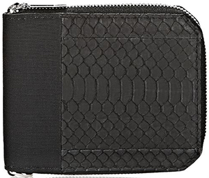 Alexander Wang Bi-fold men's wallet in contrasting snake and nylon: US$250.