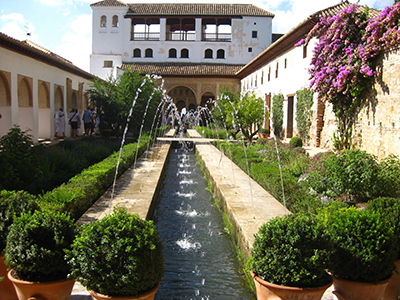 Gardens of the Alhambra, Granada, Andalusia, Spain.