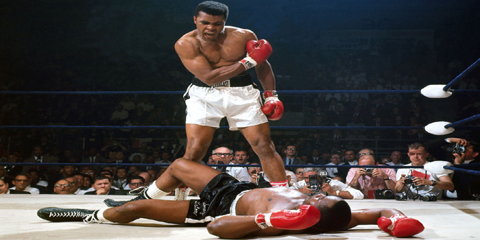 Muhammad Ali vs. Sonny Liston, May 25, 1965.
