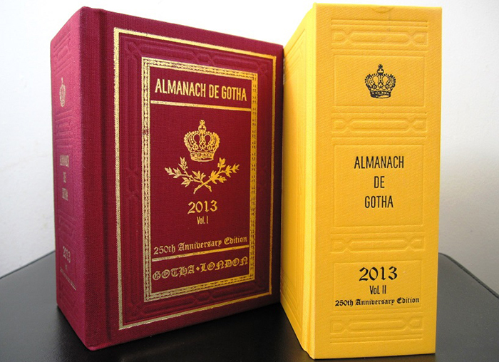 2013 Almanach de Gotha Volumes I and II.