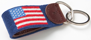 J.Press American Flag Key Fob: US$33.75.