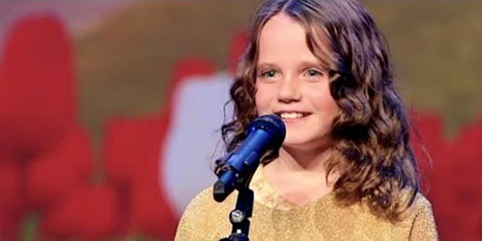 Amira Willighagen performs O Mio Babbino Caro from Puccini's Gianni Schicchi on Holland's Got Talent on October 26, 2013.