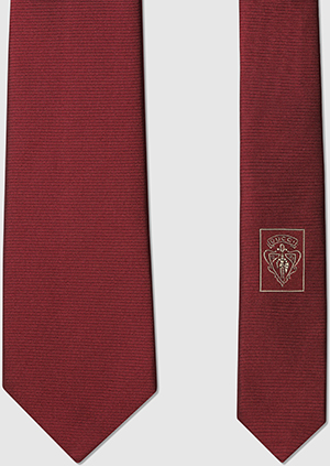Gucci anchor crest silk tie: US$200.
