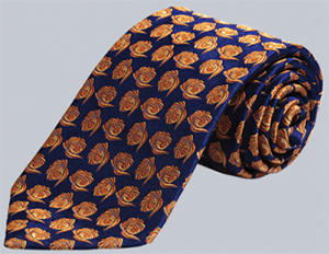 Garrick Anderson 100% Silk Navy, Orange, Floral Tie: US$79.