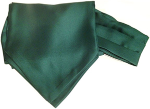 Andrew's Ascots Dark Green Cravat: US$79.