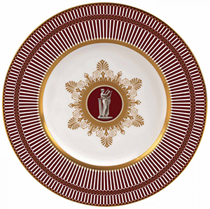 Wedgwood Anthemion Ruby Plate 23 cm: £120.