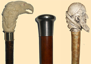 Antique walking canes by Prestige Walking Sticks.