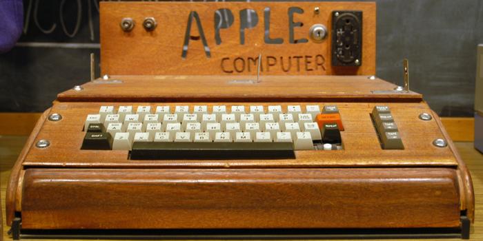 Apple I designed and hand-built by Steve Wozniak. Released on April 11, 1976.