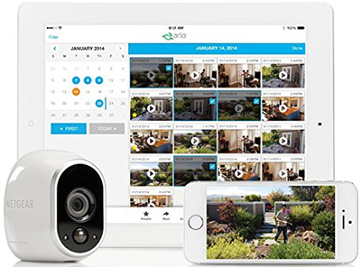Arlo - 100% wire-free, weatherproof, HD security camera.