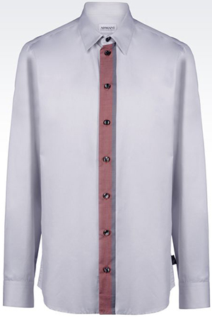 Armani Collezioni shirt in striped twill: US$345.