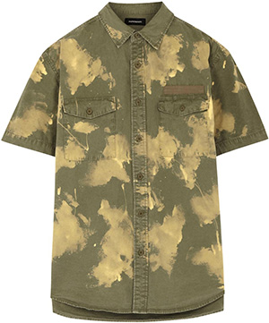Phenomenon Army green bleached cotton shirt: £285.