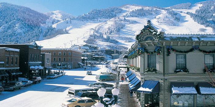 Galena Street in downtown ski resort Aspen, Colorado, U.S.A.