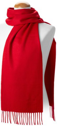 Aspinal Classic Red Cashmere Scarf: €58.50.