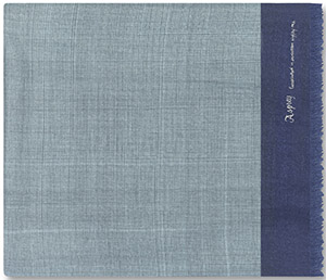 Asprey Hatched Men's Scarf, Navy Cashmere: US$890.