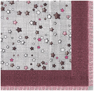 Asprey Stars Hatched Women's Scarf, Cassis Cashmere: US$895.
