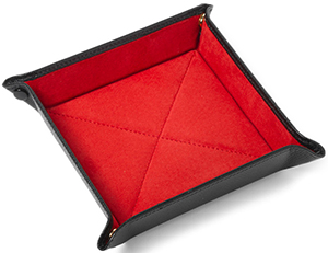Turnbull & Asser Square Leather Travel Tray in Black: €70.