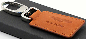 Aston Martin Tan Leather Key Fob: US$55.
