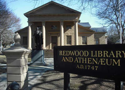 Redwood Library & Athenaeum, 50 Bellevue Avenue, Newport, RI 02840.