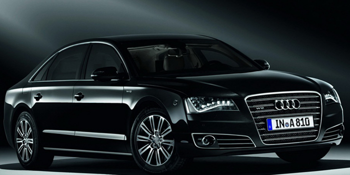 Audi A8 L Security W12 armored car.