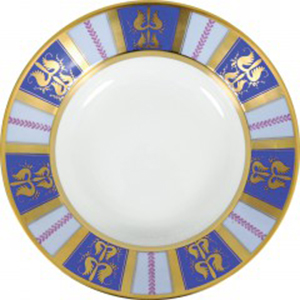 Augarten Gugelhupf Plate Marie Antoinette.