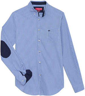 Vicomte A. Blue Vichy men's shirt: €150.