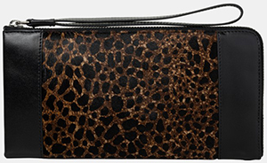 The Kooples Wallet in Ponyskin Style Leather with a Leopard Print: £195.