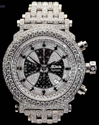 Aximum King Pro Diamond White Gold Watch.