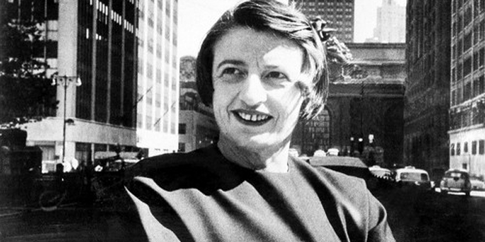 Ayn Rand (1905-1982). Russian-American novelist, philosopher, playwright, and screenwriter. She is known for her two best-selling novels, The Fountainhead and Atlas Shrugged, and for developing a philosophical system she called Objectivism. She has been a significant influence among libertarians and American conservatives.