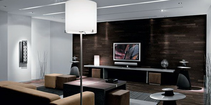 Bang & Olufsen home cinema.