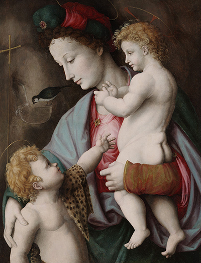 Madonna and Child with St John (1525) by Francesco Bacchiacca.