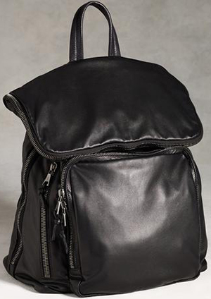 John Varvatos Bleeker Lambskin Backpack: US$1,595.