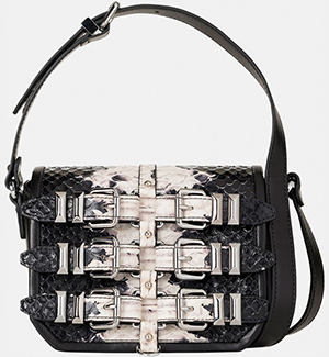 The Kooples Minibox Bag in Embossed Python Style Leather: £325.