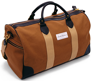 London Undercover Duck Canvas Tan Flight Holdall: £325.