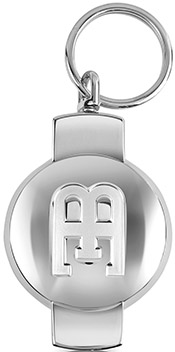 Bugatti EB Limited Edition Silver Plated Key Ring: US$332.