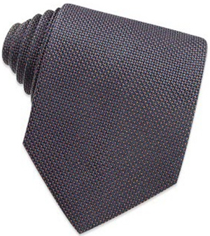 Bagutta Blue Classic Basketweave Silk Tie: US$45.