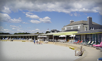 Bailey's Beach, 34 Ocean Avenue (officially named and owned by the Spouting Rock Beach Association) is an elite private beach and club in Newport.