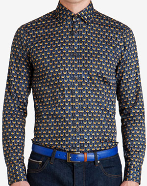 Ted Baker PYLE Printed spiral men's shirt: US$325.