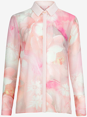 Ted Baker ROSLE Rose on canvas women's shirt: US$195.