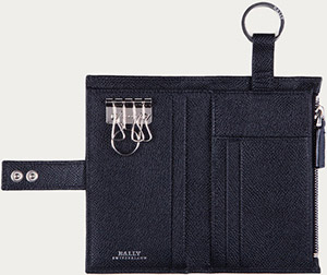 Bally Lany Men's Black Leather Key Holder: US$275.