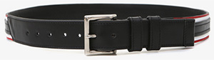 Balmain Striped Men's Leather Belt: €550.