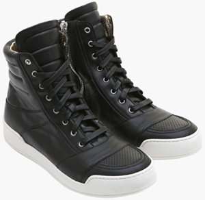 Balmain Perforated Leather High-Top Men's Sneakers: €616.