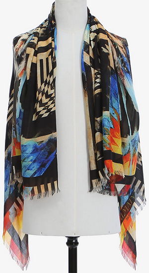 Balmain Indian Patterned Modal and Cashmere Scarf: €520.