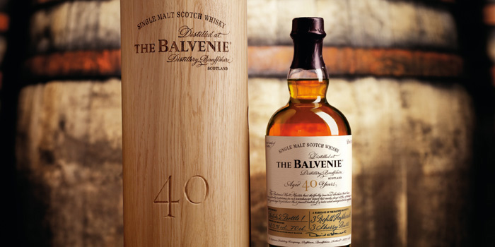 Balvenie Speyside single malt Scotch whisky.