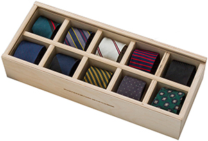 Band of Outsiders Annivesary Capsule Box of 10 Ties: US$795.