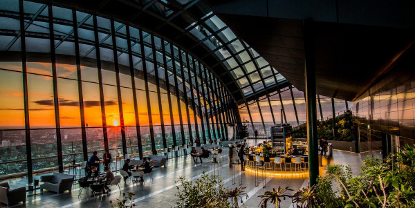 Sky Pod Bar, Sky Garden, 20 Fenchurch Street, London EC3M 3BY, England, U.K.